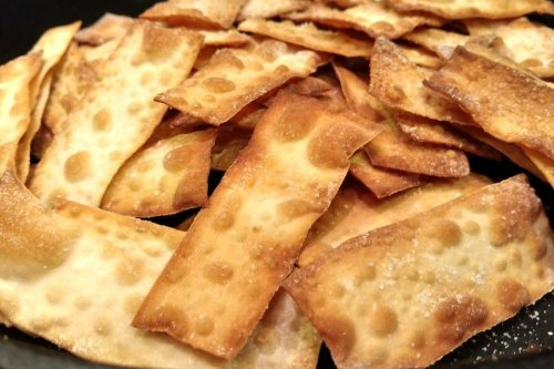 Wonton Chips: Put Wonton Wrappers in the Oven & Watch the Magic   Snacks   30Seconds Food
