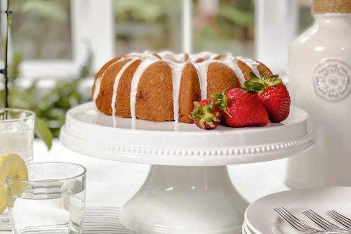 Strawberry Bundt Cake with Lemon Glaze