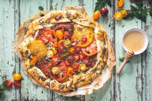 Rustic Heirloom Tomato Tart