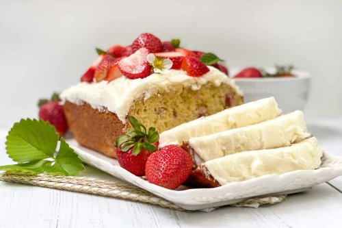 Strawberry Bread with Lemon Icing