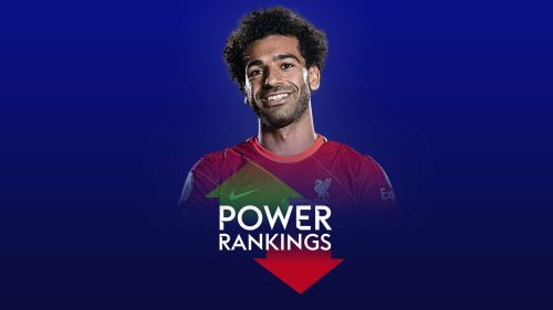 Mohamed Salah: Liverpool winger tops Premier League Power Rankings chart