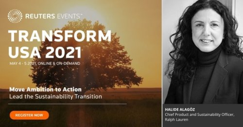 Ralph Lauren's Chief Product and Sustainability Officer to Highlight Company's Circularity Strategy at Reuters Transform USA 2021