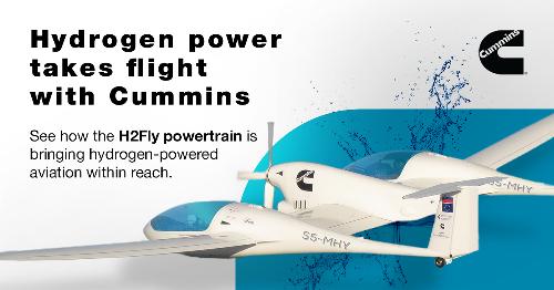 Cummins Helps First Hydrogen Powered Aircraft Take Flight