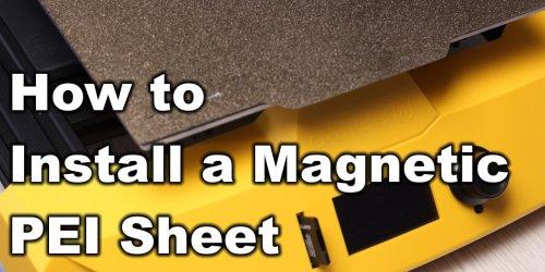 How To Install A Magnetic PEI Sheet - Artillery Hornet Print Surface Upgrade | 3D Print Beginner