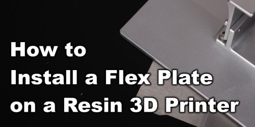 How To Install A Magnetic Flex Plate On A Resin 3D Printer | 3D Print Beginner