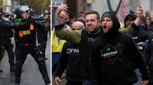 Melbourne construction industry shut down for two weeks after violent protests at CFMEU headquarters over COVID vaccine