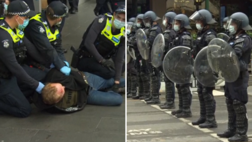 Arrests begin in Melbourne CBD as fears of another violent protest grow