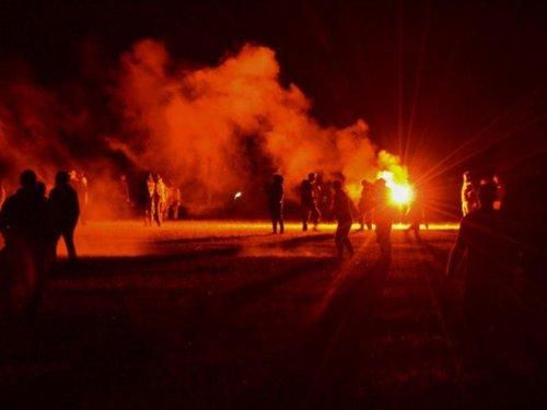 Hours-long violent clashes erupt after police bust up large rave in France