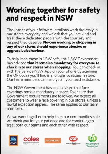 Woolworths, Coles, ALDI, IGA and Foodworks issue huge joint statement amid NSW's COVID lockdown
