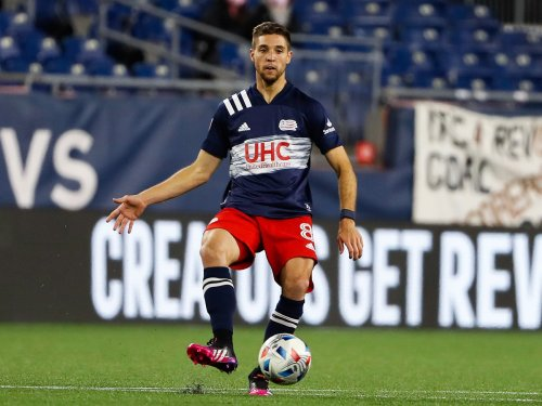 Mike 'Sarge' Riley talks with Revs' Matt Polster ahead of match with Nashville SC