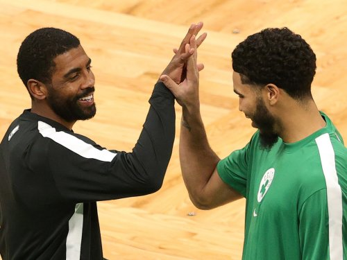 Celtics saw 'red flag' in players' indifference to Kyrie Irving stomping logo