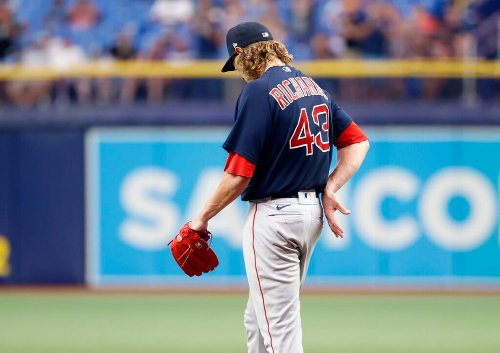 Mazz: Minus the glue, Red Sox pitcher Garrett Richards - like many others - appears to be breaking apart