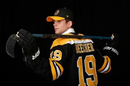 Bruins prospect Johnny Beecher explains future plans