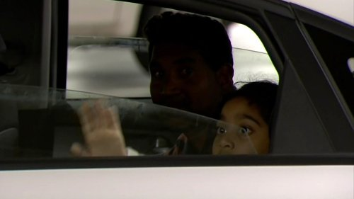 Tamil asylum seeker family reunited in Perth hospital after Tharnicaa's dad and sister touch down
