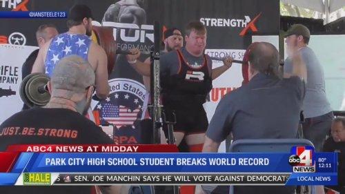 Park City High student breaks world record