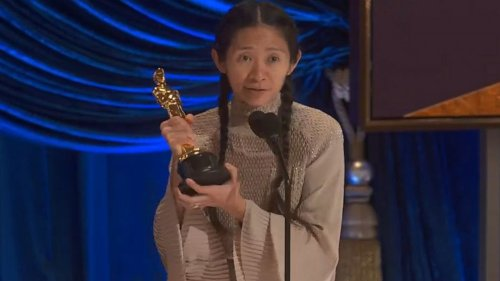Chloé Zhao accepts Best Director Academy Award for 'Nomadland'