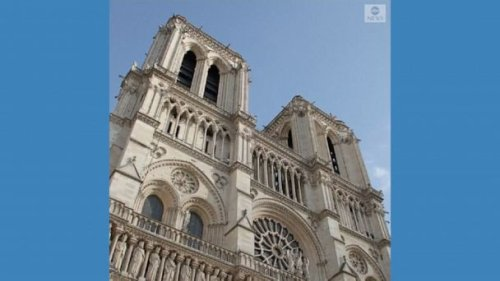 Video Notre Dame stable enough to begin rebuilding
