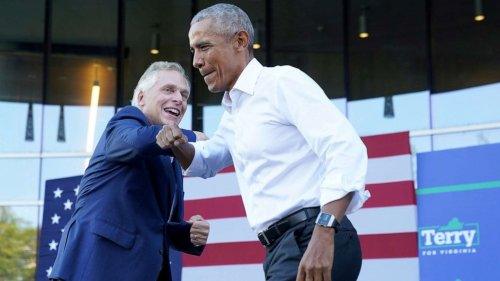 Obama hits campaign trail ahead of gubernatorial elections in Virginia, New Jersey
