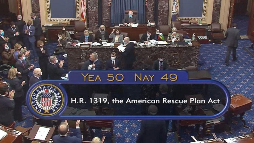 Senate passes $1.9 trillion coronavirus relief bill