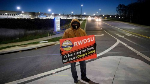 Landmark Amazon union vote count begins in Alabama