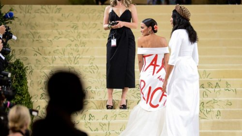 Rep. Alexandria Ocasio-Cortez responds to backlash over 'Tax the Rich' Met Gala gown