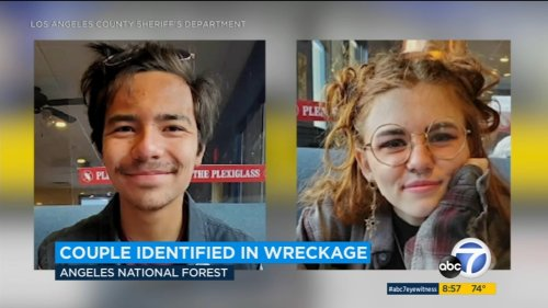 Bodies found in wrecked car in Angeles National Forest identified as missing teenage couple