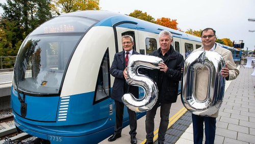50 Jahre Münchner U-Bahn: Ein neuer Zug in alten Farben