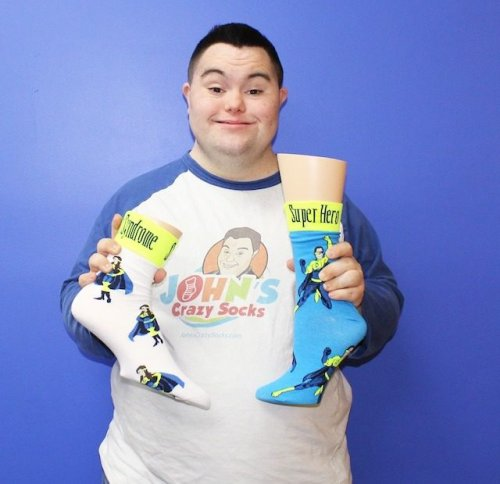 In the Business of Spreading Happiness: John's Crazy Socks
