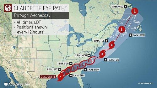 Claudette to swipe US Atlantic Coast, Canada after drenching Gulf Coast