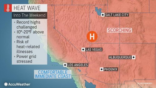 Records fall as heat wave continues for Father's Day weekend
