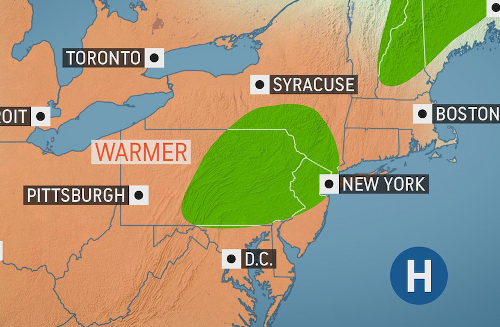 "After stretch of chilly weather, a ""comfortable return to milder conditions"" in store for Northeast"