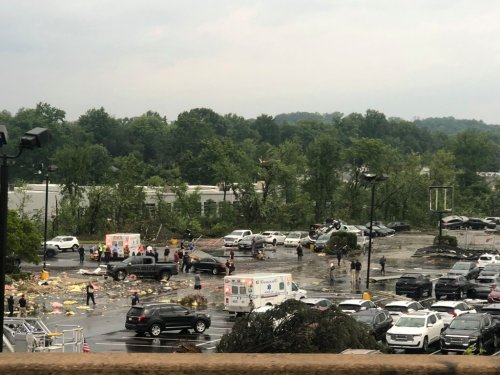 Employees, customers recount having seconds to shelter from tornado-warned storm