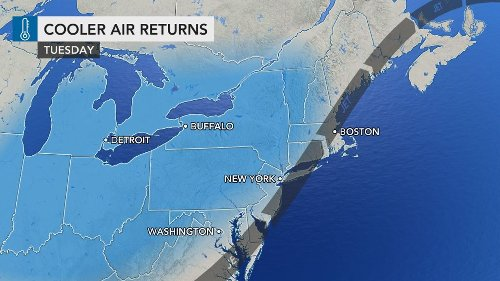 Cool, dry air to follow stormy stretch in northeastern US