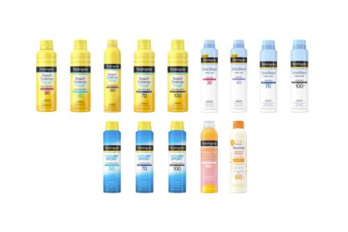 Neutrogena Recalls Aerosol Sunscreen Due to Benzene Levels - ActiveBeat