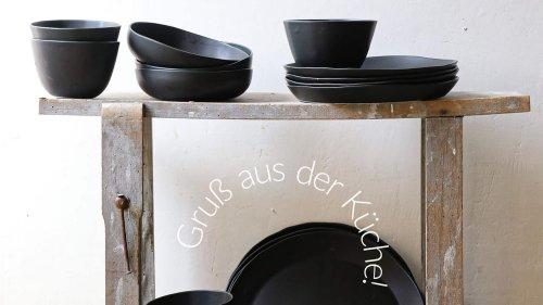 Schwarzes Porzellan von Epure: Little Black Dress für die Tafel