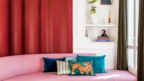 Mini-Apartment: farbenprächtige Eleganz auf 30 Quadratmetern in Paris