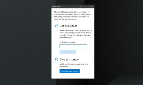 How to set up and use the Windows 10 Quick Assist tool