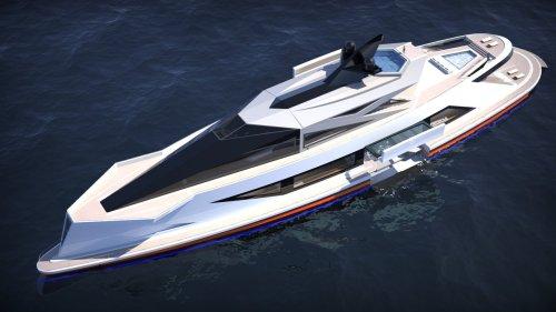 Le Saturnia, un superyacht futuriste doté d'un port privé