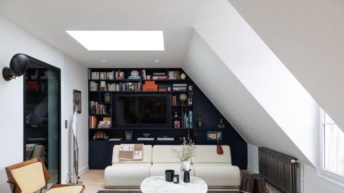 Petit espace : 60 m2 lumineux et fonctionnels sous les toits de Paris