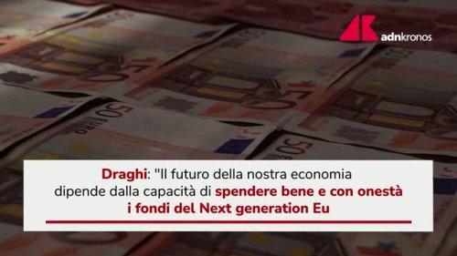 """Recovery, Draghi: """"Reprimere infiltrazioni criminali"""""""