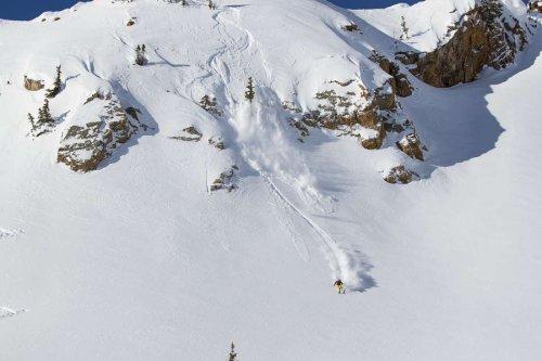 Skier Caroline Gleich Sweeps the Wasatch Chutes