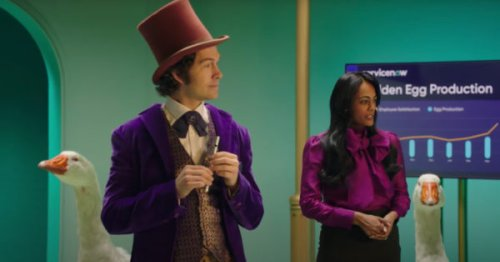 Willy Wonka Learns About Digital Workflow in ServiceNow Ad