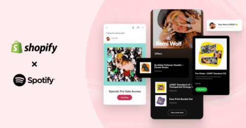 Merch Table: Shopify Integrated Into Spotify for Artists