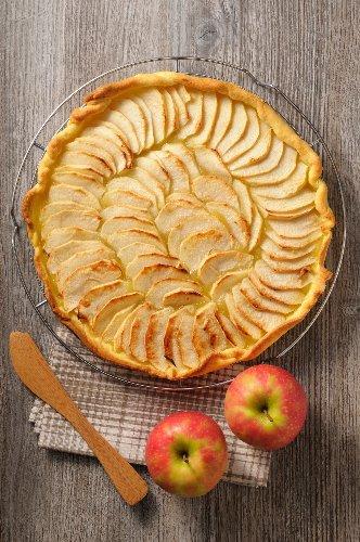 Blätterteig-Tarte mit Apfel: Einfaches Blitz-Rezept