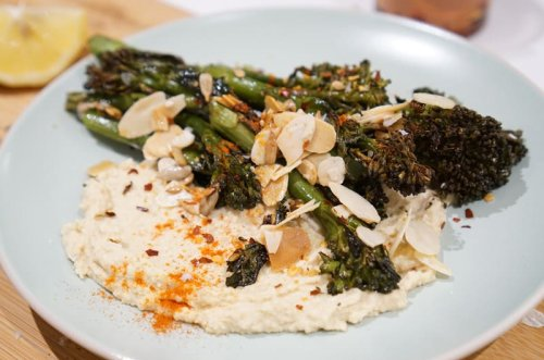 Roasted Broccoli & Hummus