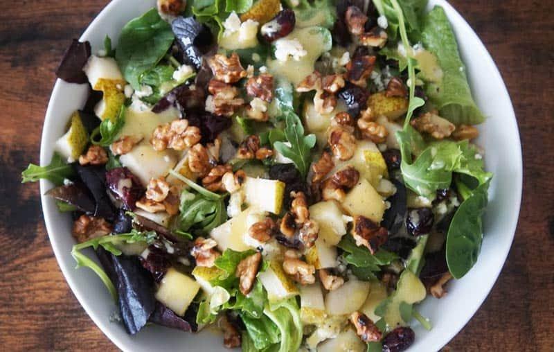 Pear & Gorgonzola Salad