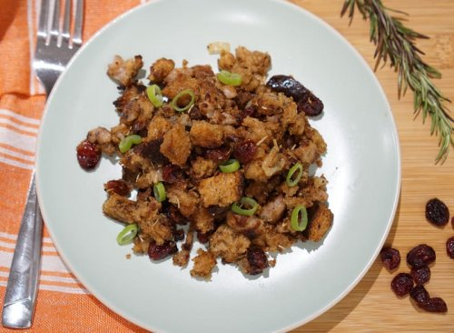 Buttery & Delicious Sausage and Cranberry Stuffing
