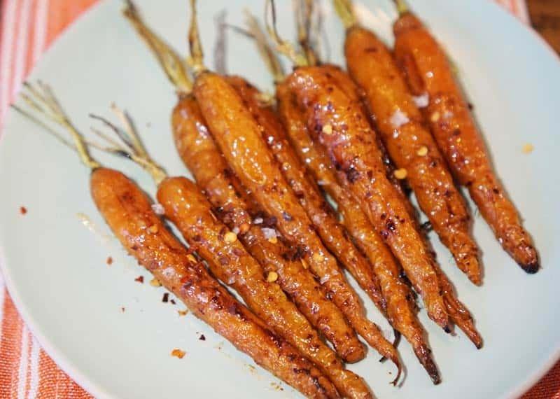 Miso-Glazed Roasted Carrots