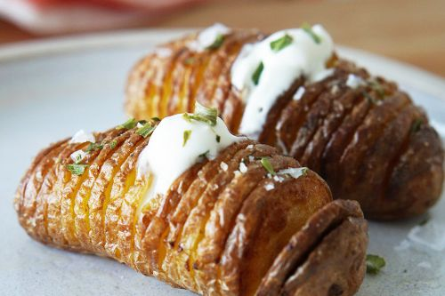 Air Fryer Hasselback Potatoes