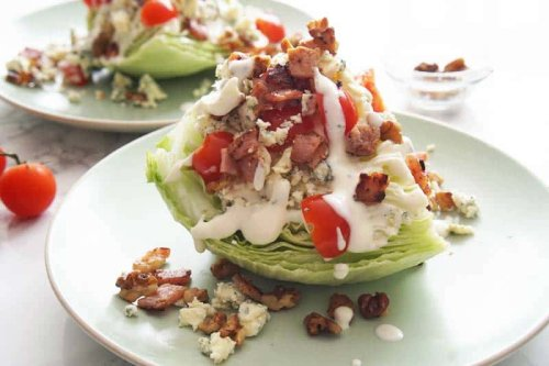 Classic Wedge Salad with Homemade Blue Cheese Dressing